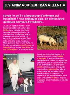 Ezine 3 - French Level 1 – Working Animals - Les Animaux Qui Travaillent