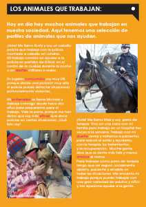 Ezine 3 - Spanish Level 1 – Working Animals – Los Animales Que Trabajan