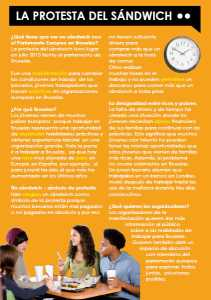 Ezine 1 - Spanish Level 2 - The World of Work - La protesta del sándwich